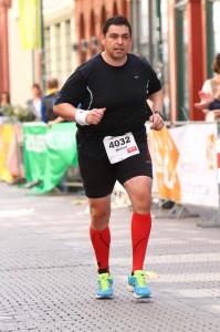 Michael Haidle beim Heidelberger Halbmarathon